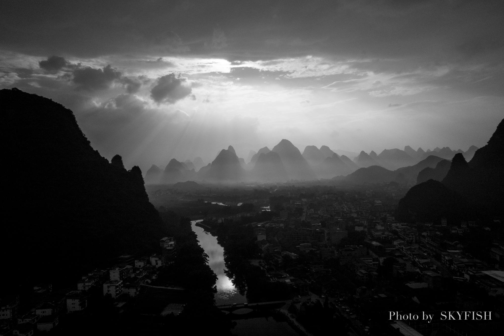 ドローンで空撮した中国桂林