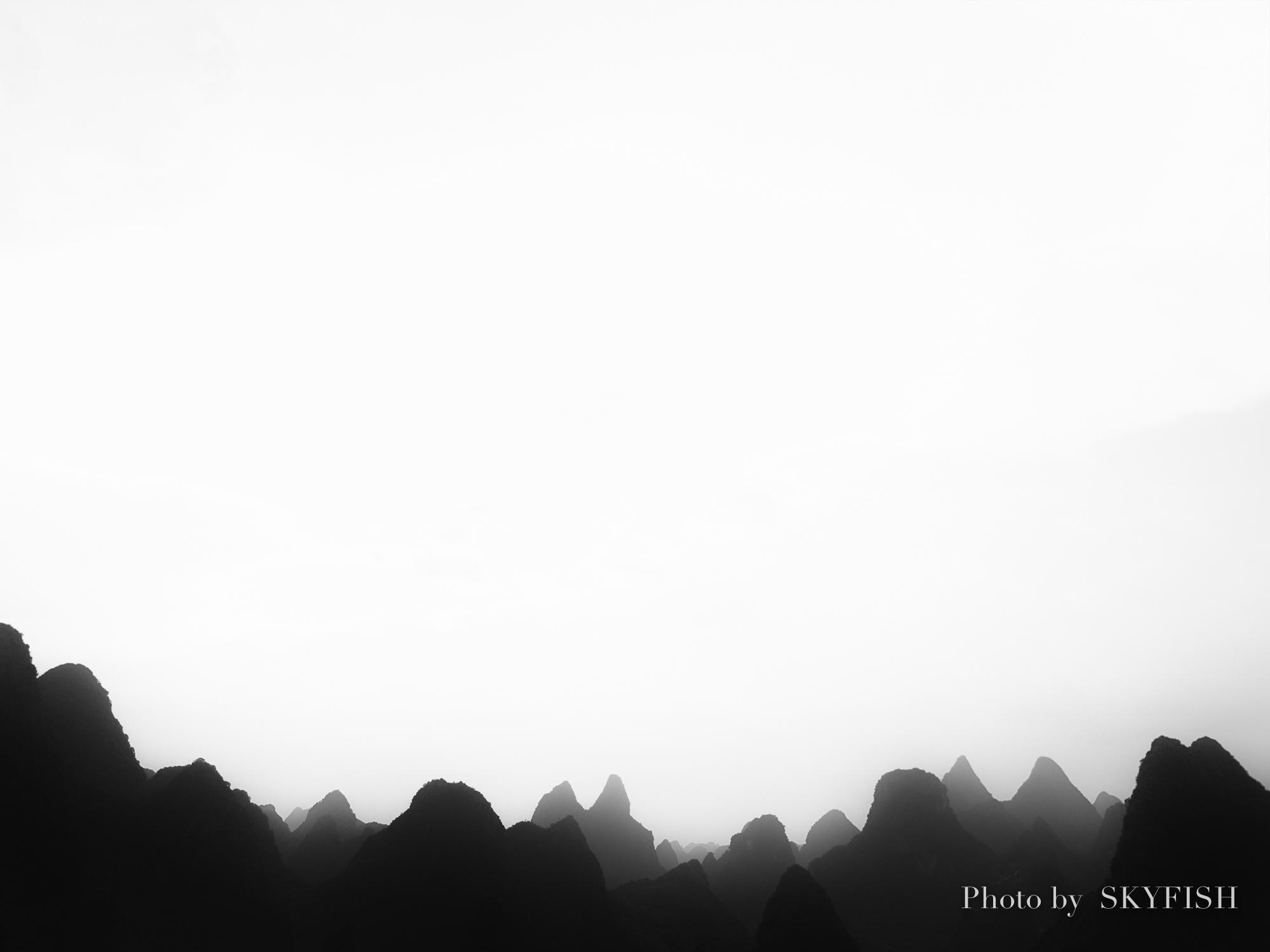 ドローンで撮影した桂林